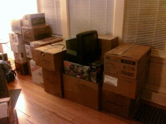 Items packed by professional movers