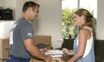 Movers helping homeowner in Little Elm Texas