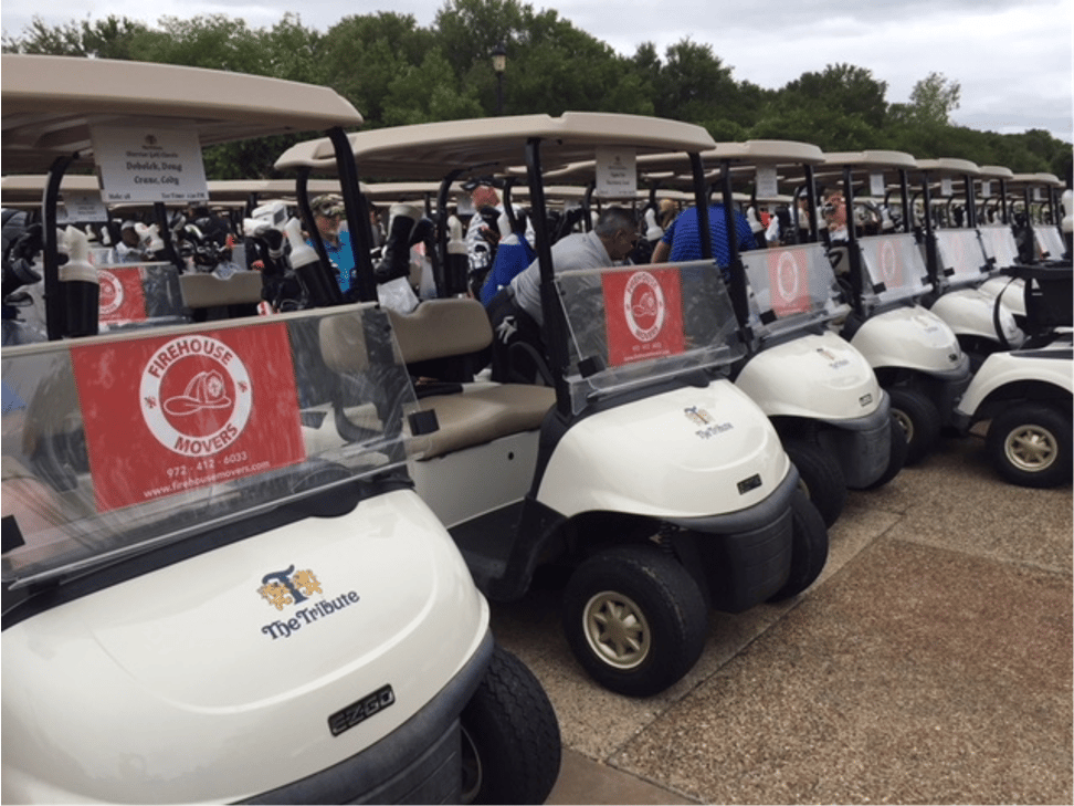 Firehouse Firsco local movers sponsor charity golf event