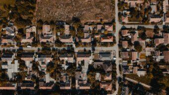 Aerial view of Texas Neighborhood