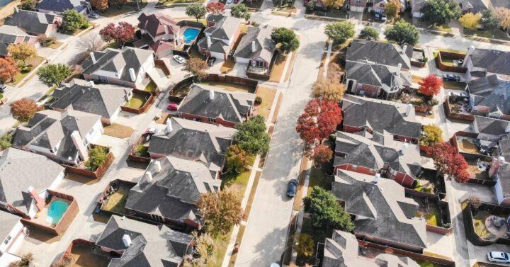 aerial photo of a Dallas neighborhood.